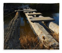 Improvised Wooden Bridge Fleece Blanket