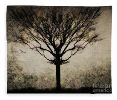 In A Symmetrical World Fleece Blanket