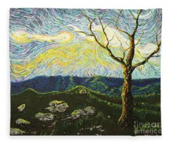 In Between A Rock And A Heaven Place Fleece Blanket