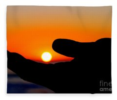 In His Hands By Diana Sainz Fleece Blanket