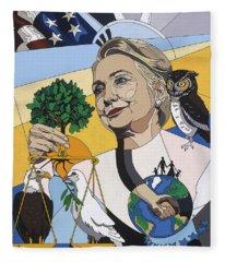 In Honor Of Hillary Clinton Fleece Blanket
