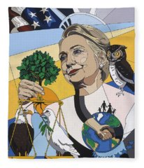In Honor Of Hillary Clinton Fleece Blanket