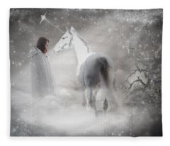 In Honor Of The Unicorn Fleece Blanket