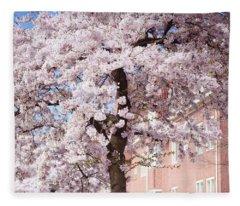 In Its Glory. Pink Spring In Amsterdam Fleece Blanket