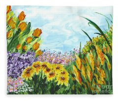 In My Garden Fleece Blanket