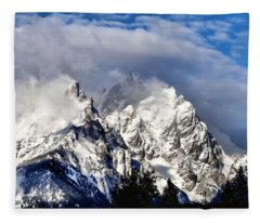 The Teton Range Fleece Blanket