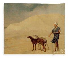 In The Desert Fleece Blanket