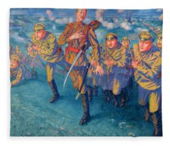 In The Firing Line Fleece Blanket