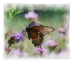 In The Flowers Fleece Blanket