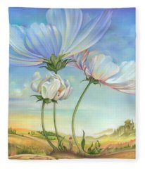 In The Half-shadow Of Wild Flowers Fleece Blanket