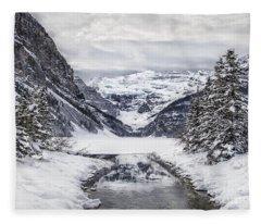 In The Heart Of The Winter Fleece Blanket