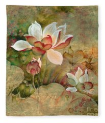 In The Lotus Land Fleece Blanket