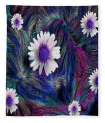 In The Magic Forest In The Temple Of Colors Fleece Blanket