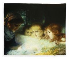 In The Manger Fleece Blanket