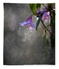 In The Morning Rain Fleece Blanket