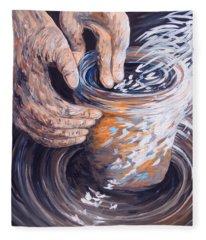In The Potter's Hands Fleece Blanket