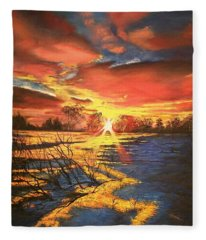 In The Still Of Dawn-2 Fleece Blanket