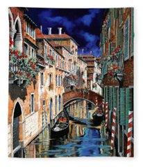 Inchiostro Su Venezia Fleece Blanket