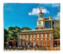 Independence Hall Fleece Blanket