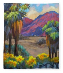 Indian Canyon In Spring Fleece Blanket