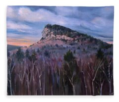Indian Head In Lincoln New Hampshire Fleece Blanket