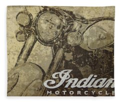 Indian Motorcycle Poster Fleece Blanket