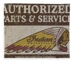 Indian Motorcycle Sign Fleece Blanket
