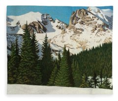 Indian Peaks Winter Fleece Blanket