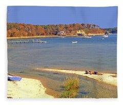 Indian Summer Afternoon Pleasant Bay Cape Cod Massachusetts Fleece Blanket