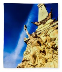 Indiana Civil War Monument Fleece Blanket