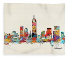 Indianapolis Fleece Blankets
