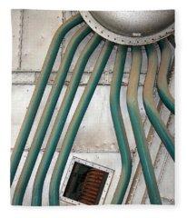 Industrial Art Fleece Blanket