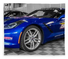 Indy 500 Corvette Pace Car Fleece Blanket