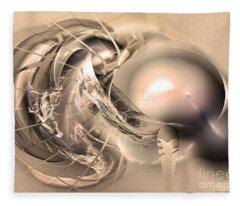 Initium - Abstract Art Fleece Blanket