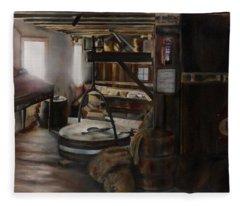 Inside The Flour Mill Fleece Blanket