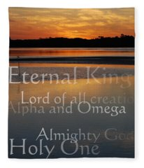Inspirational Sunset Fleece Blanket
