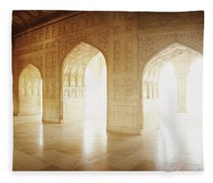Interiors Of A Hall, Agra Fort, Agra, Uttar Pradesh, India Fleece Blanket