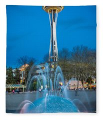 International Fountain Lights Fleece Blanket