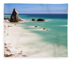 Into The Blue Fleece Blanket