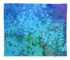 Into The Deep Blue Sea Fleece Blanket
