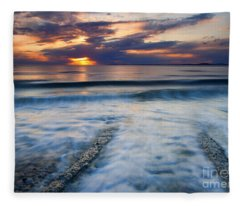 Into The Sea Fleece Blanket