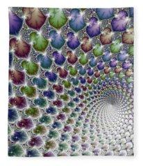 Into The Vortex Colorful Fractal Art Fleece Blanket