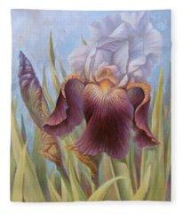 Iris 1 Fleece Blanket