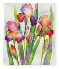 Iris Elegance Fleece Blanket