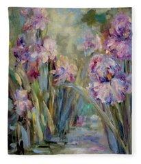 Iris Garden Fleece Blanket