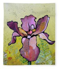 Iris II Fleece Blanket
