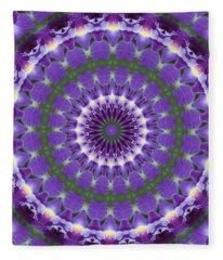Iris Kaleidoscope  Fleece Blanket