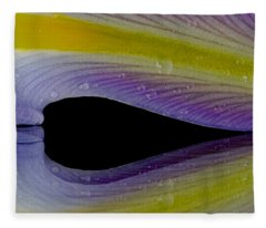 Iris Petal Reflected Fleece Blanket