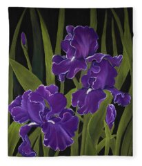 Irises Fleece Blanket