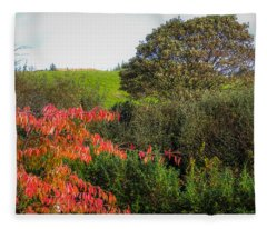 Irish Autumn Countryside Fleece Blanket